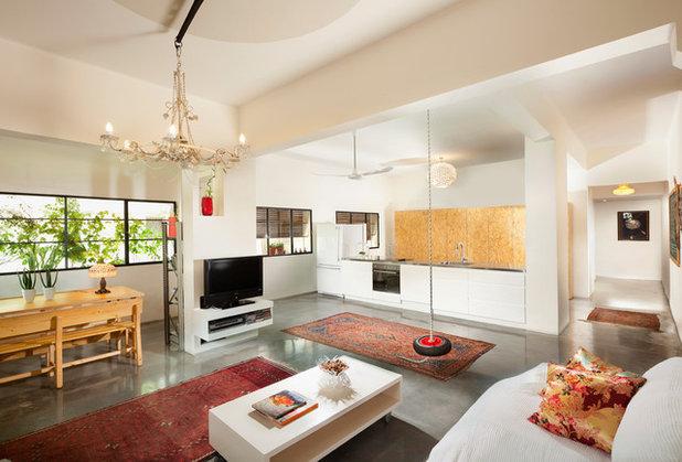 Eclectic Living Room by Elad Gonen