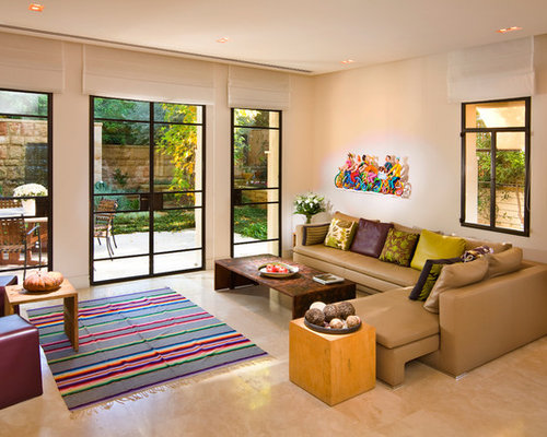 Patio door window treatments home design ideas renovations photos for Contemporary window treatments for living room