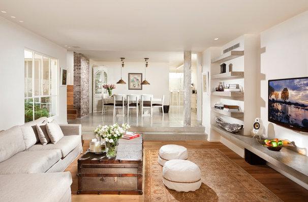 Transitional Living Room by Elad Gonen