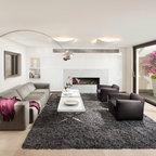 Purple Glam Master Bedroom Contemporary Bedroom