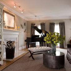 Traditional Living Room by Elizabeth Krial Design, LLC