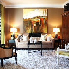 eclectic living room by Emily A. Clark