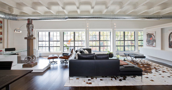 Industrial Living Room by Studio Santalla, Inc
