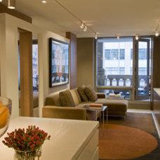 Contemporary Living Room by Studio Santalla, Inc