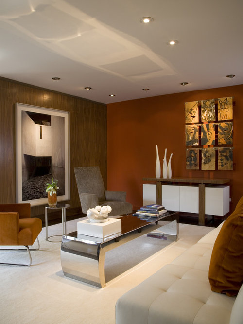 Rust Colored Walls Living Room Design Ideas Pictures
