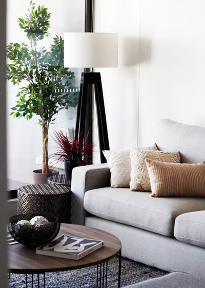 Contemporary Living Room by Design Hive Co.