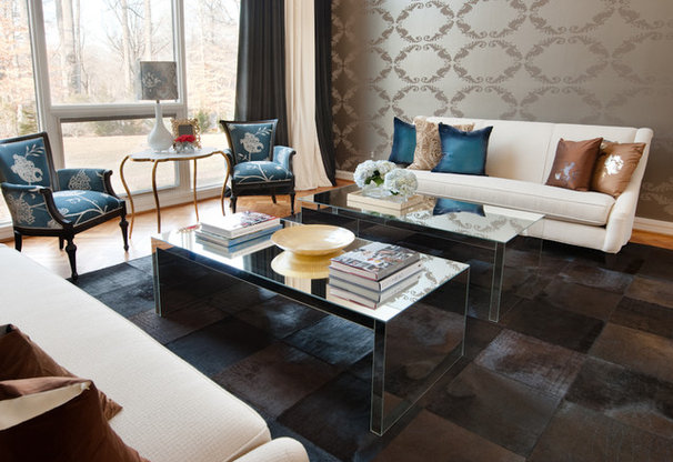 Eclectic Living Room by Fanny Zigdon Interiors