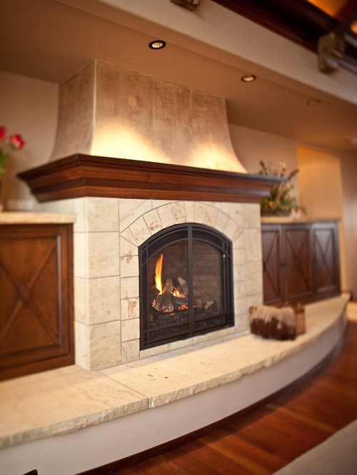 Curved Hearth Home Design Ideas, Pictures, Remodel and Decor