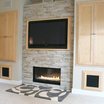 Living Room + Fireplace + Built-in Cabinet Detail