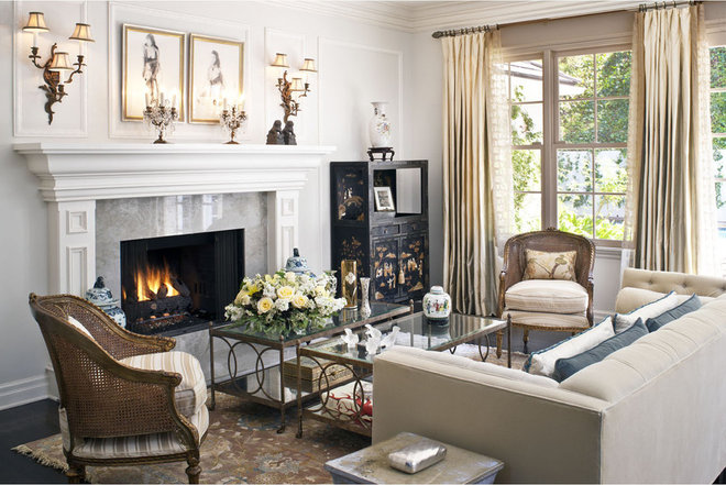 Traditional Living Room by Dayna Katlin Interiors