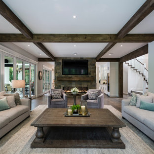 Living Room Fireplace – Grand yet Rustic