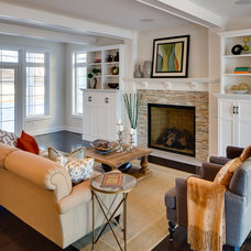 Traditional Living Room by Mark Teskey Architectural Photography