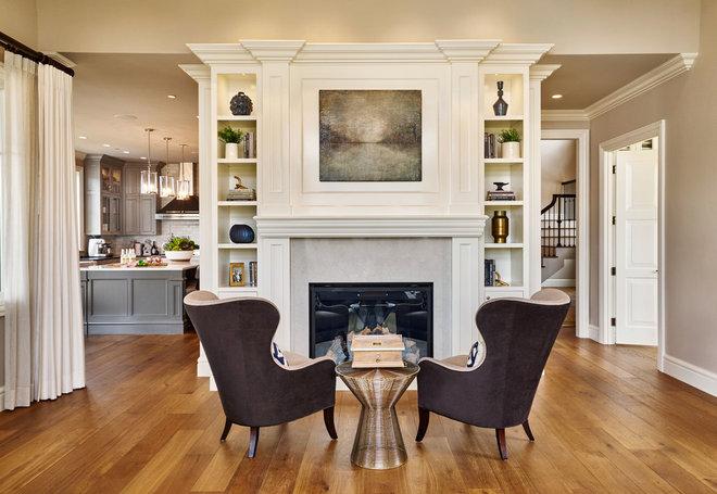 Salon traditionnel de Garrison Hullinger Interior Design Inc.