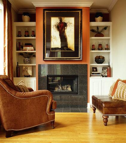 Contemporary Living Room by Molly McGinness Interior Design
