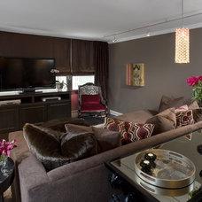 Asian Living Room by Fredman Design Group