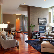 Contemporary Living Room by Gabberts Design Studio