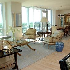 Transitional Living Room by Gabberts Design Studio