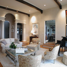 Eclectic Living Room by Gafford Interiors