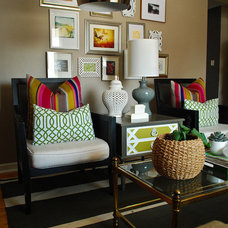 Eclectic Living Room Living Room Gallery Wall