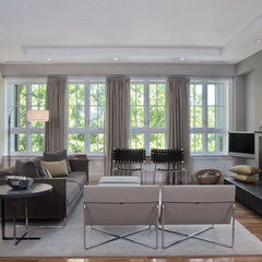 contemporary living room by Solomon+Bauer+Giambastiani Architects