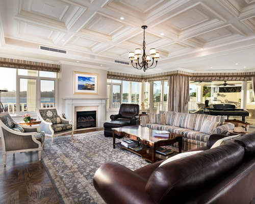 design ideas for a traditional formal open concept living room in perth with beige walls - Living Room Design Traditional