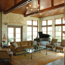 Traditional Living Room by Furman + Keil Architects
