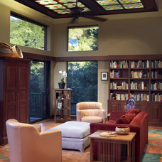 Craftsman Living Room by Harrell Remodeling