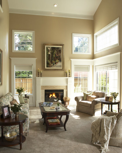 traditional living room by Harrell Remodeling
