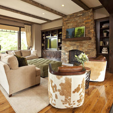 Contemporary Living Room by Hendel Homes