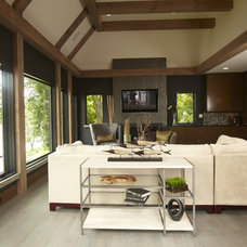 Contemporary Living Room by Highmark Builders