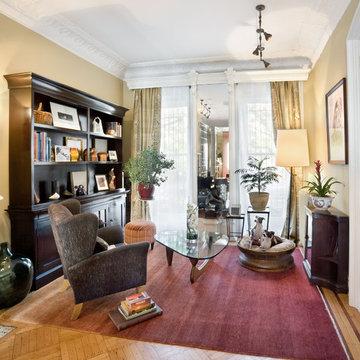 Living Room, Historic Townhouse, Brooklyn, New York
