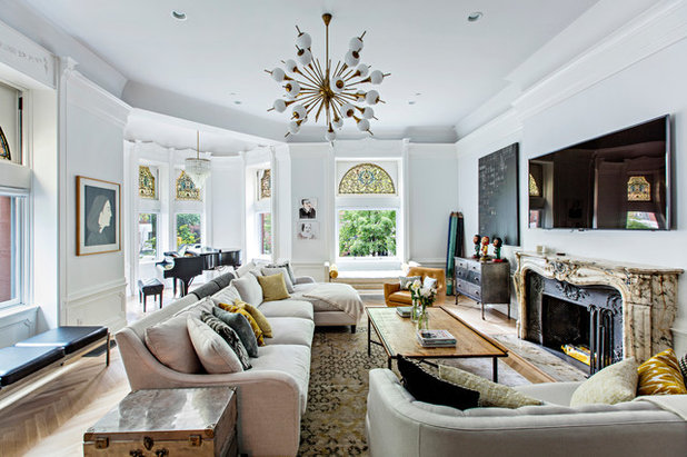Eclectic Living Room by Horrigan O'Malley Architects