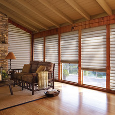 Craftsman Living Room by Accent Window Fashions LLC