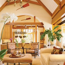 Tropical Living Room by Ike Kligerman Barkley