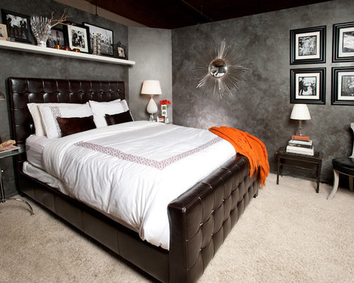Leather Tufted Bed Home Design Ideas Pictures Remodel