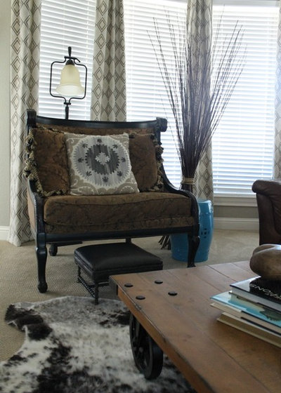 eclectic living room by dana frieling interiors - Texas Style Decorating