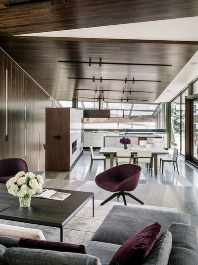 Contemporary Living Room by Fougeron Architecture FAIA