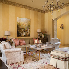 Traditional Living Room by LA Herget Interiors