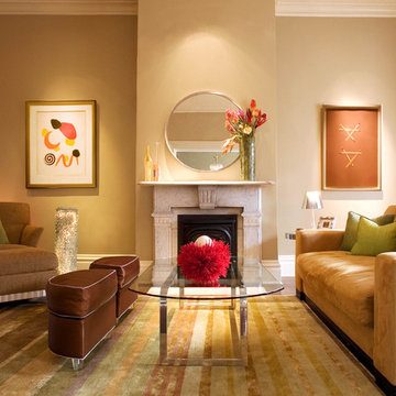 Living Room in Modern Victorian
