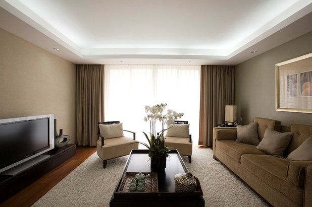 Contemporary Living Room by RP Design & Productions