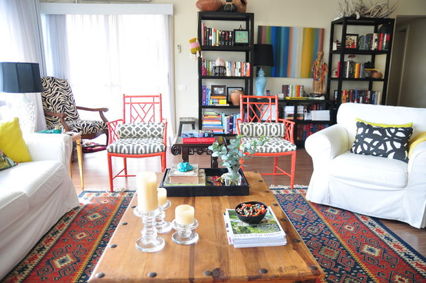 Eclectic Living Room by Alison Giese Interiors