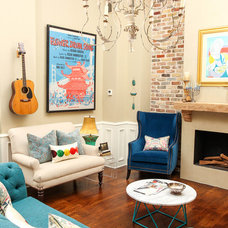 Eclectic Living Room by Estrada Design Consulting