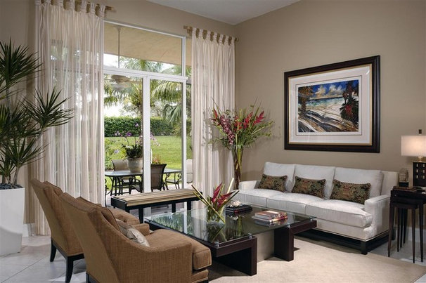 Contemporary Living Room by Interiors by Myriam, LLC