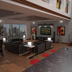 modern living room by JAIME SCARPITTA