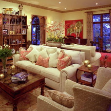 Traditional Living Room by Jan Gunn Interior Architecture and Design