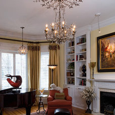 Traditional Living Room by Jennifer Stoner Interiors