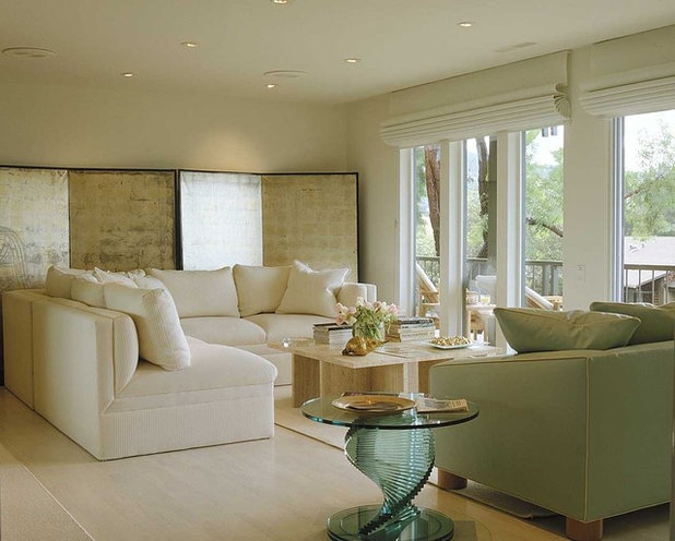 Contemporary Living Room by Jerry Jacobs Design, Inc.