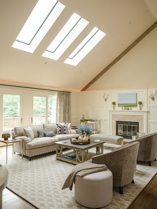 Vaulted Ceiling With Fireplace
