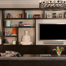 Contemporary Living Room by Jill Podell Interiors