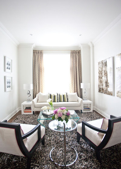 Contemporary Living Room by Jodie Rosen Design